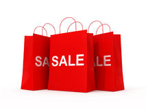 Shopping red bags Royalty Free Stock Photos