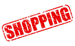 Shopping red stamp text Stock Photography