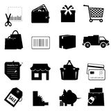Shopping related icon set Royalty Free Stock Photography