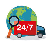 Shopping related icons image. 24 7 delivery truck shopping related icons image  illustration design Royalty Free Stock Photos