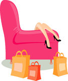 After shopping rest. Rest after shopping. good vector image for sale Royalty Free Stock Photos