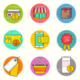 Shopping And Retail Icon Set Royalty Free Stock Photography