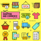 Shopping And Retail Icon Set Royalty Free Stock Image
