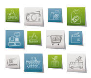 Shopping and retail icons Stock Image