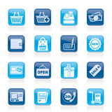 Shopping and retail icons Royalty Free Stock Photos