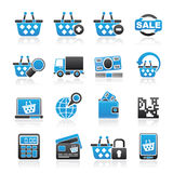 Shopping and retail icons Royalty Free Stock Photo