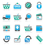 Shopping and retail icons Stock Photos