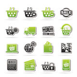 Shopping and retail icons Stock Images