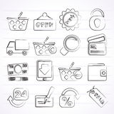 Shopping and retail icons Stock Photography