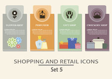 Shopping and retail  labels Stock Photos