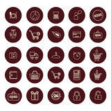 Shopping and Retail related icons set Royalty Free Stock Image