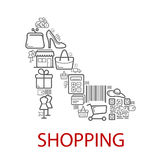 Shopping retail selling vector poster vector illustration