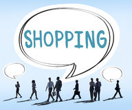 Shopping Retail Shopaholic Consumerism Market Concept Royalty Free Stock Images