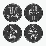 Shopping retail sticker lettering set Royalty Free Stock Image