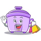 Shopping rice cooker character cartoon Stock Images