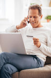 Shopping right from home. Stock Images