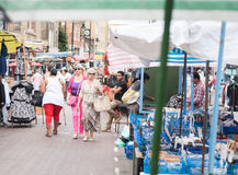 Shopping in the Roman Road Markets. Royalty Free Stock Image