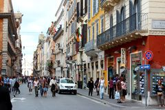 Shopping in Rome Royalty Free Stock Photos