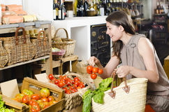 Shopping in a Rustic Store Stock Photography
