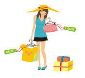Shopping and sale Stock Image