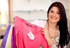 Shopping on sale Stock Photography