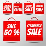 Shopping Sale Badge. With spacial offer,summer sale, 50% off royalty free illustration