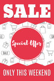 Shopping-10. Sale banner template design. Special offer. Super sale. Vector illustration Royalty Free Stock Image