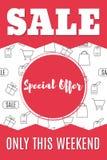 Shopping-10. Sale banner template design. Special offer. Super sale. Vector illustration royalty free illustration