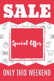 Shopping-11. Sale banner template design. Special offer. Super sale. Vector illustration Royalty Free Stock Photo