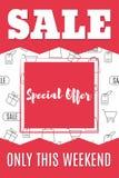 Shopping-11. Sale banner template design. Special offer. Super sale. Vector illustration royalty free illustration