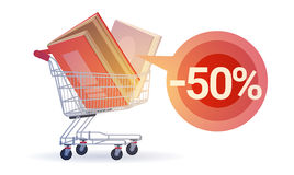 Shopping Sale Books Stack Education Concept Royalty Free Stock Photo