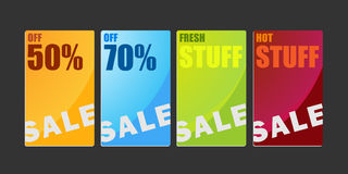Shopping sale cardboard banners Illustration Royalty Free Stock Images