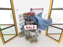 Shopping sale concept background Royalty Free Stock Images