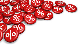 Shopping Sale Discount Percent Buttons Stock Photography