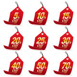 Shopping Sale Discount Red Price Tag Royalty Free Stock Photos