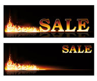 Shopping Sale fire banners. Vector illustration Royalty Free Stock Images