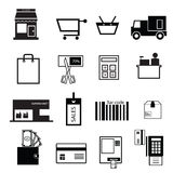 Shopping and sale icons Royalty Free Stock Image