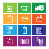 Shopping and sale icons set Royalty Free Stock Photo