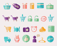 Shopping and Sale  icons on white background Stock Photo