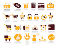 Shopping and Sale  icons on white background Stock Image
