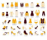 Shopping and Sale  icons on white background Royalty Free Stock Photos