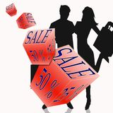 Shopping, sale illustration, gift Royalty Free Stock Images