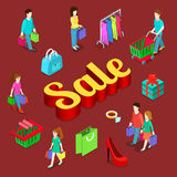 Shopping sale isometric vector concept Stock Photography
