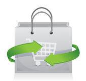 Shopping and sale on the move concept Stock Images