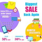 Shopping Sale Poster Stock Photos