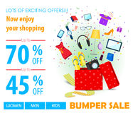 Shopping Sale Poster Royalty Free Stock Photography