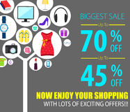 Shopping Sale Poster Royalty Free Stock Images