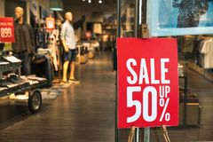 Shopping sale sign. Sign of sale shopping royalty free stock photography