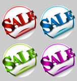 Shopping, sale sticker with 3D text Stock Photos