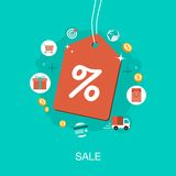 Shopping sale tag background Stock Photo